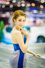 DSC05041 (inkid) Tags: portrait people girl lady female thailand prime lights model women pretty dof bokeh f14 85mm sigma indoor thai ambient thaigirl hsm motorexpo2015