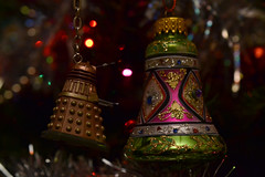 So I've Noticed You Hanging Around (mitchell_dawn) Tags: christmas macro glitter decoration pickup christmastree christmaslights scifi sciencefiction drwho dalek bauble chatup