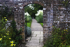 Week 40 - Frame within a Frame (Damien Walmsley) Tags: focus blur frame garden gate baddesleyclinton path flowers
