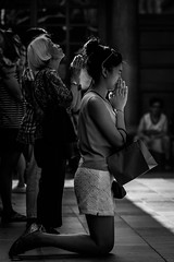 GOD Please!!! (hamzaqayyum) Tags: religion temple taipei taiwan asia culture tradition god people woman street outdoor travel