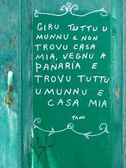 Tano's home (vittorio vida) Tags: panarea eolie lipari italy sicily door green sign tano travel home house