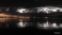 ...Thunderstorm... (fredf34) Tags: thau étangdethau sète orage paysage landscape eclairs thunderstorm pentax pentaxk3 k3 sigma1850f28 black dark france fredf34 fredfu34 nuages clouds lightning inexplore explore