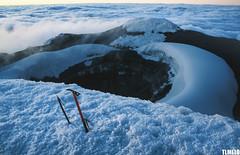 """Sinkhole ahead"" -  Volcano Cotopaxi - Ecuador (TLMELO) Tags: volcano vulcan vulco equador summit cumbre keepwalking justdoit impossibleisnothing ecuador man home kneel ajoelhado crater cratera andes pequeoalpamayo southamerica amricadosul altiplano climb climber mount trekking sky cu clouds caminhada heavy hiking climbing hike backpack backpacking walking walk ice glacier glaciar gelo snow neve cume landscape nature natureza paisagem trilha mountain montanha mountaineer"