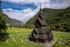 Rainbow Borgund (Ornaim) Tags: borgund stave church stavkyrkje laerdal norway famous old monument landscape rainbow sun summer green field mountain norge norvege travel vacation nature tree cloud blue sky nikon d610 afs 1635 vr wide angle fjordane lightroom