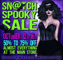 Sn@tch Spooky Sale 2016 Poster LG (Tess-Ivey Deschanel) Tags: sntch snatch secondlife sl second life gothic goth halloween games gaming game clothing clothes clubwear costumes corset casual hot horror haunted sale new newrelease newreleases iveydeschanel ivey ihearts deschanel punk pixels hair