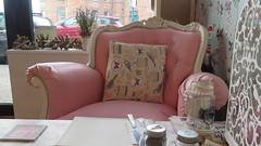 Comfy Chair (Katie_Russell) Tags: ni nireland northernireland norniron ulster ireland portrush coantrim countyantrim pink chair seat pankydoo cafe