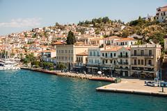 Hydra - Harbourside Shops & Restaurants (Le Monde1) Tags: greece island hydra port coast monastery greek lemonde1 nikon d800e saronicislands aegean sea town harbourside shops restaurants boats yachts donkeys