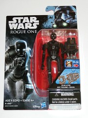 k-2so star wars rogue one basic action figures 2016 hasbro mosc a (tjparkside) Tags: k2so star wars rogue one basic action figures 2016 hasbro mosc 1 r1 375 inch 5poa figure disney studio effects ap app rebel rebels alliance base insertion agent droid droids zipline