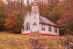 Abandoned Among the Beauty (Back Road Photography (Kevin W. Jerrell)) Tags: churches rodaroad baptist fall autumncolors fallcolor backroadphotography coalcamps houseofworship christian faith oldbuildings ruralscenes countrychurches abandoned dilapidated nikond60