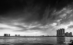 before the storm (urban67) Tags: sky clouds sea blackwhite monochrome darkclouds