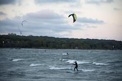 Wave Riders D7C_0160 (iloleo) Tags: lakeontario autumn nikon beach pabbleboard windsurfers scenic sports waves d750 toronto landscape action woodbinebeach