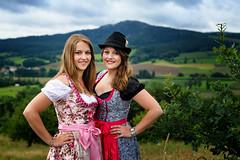 bavarian girls (photon tamer) Tags: bavariangirls girls women female bavaria traditionalcostume model portrait outdoorportrait strobist fashion autumn
