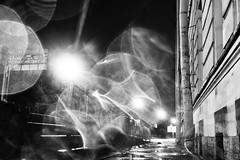 The glare of other dreams -     (Valery Parshin) Tags: russia stpetersburg saintpetersburg valeryparshin vasilyevskyisland canonefs24mmf28stm canoneos600d night light blackandwhite
