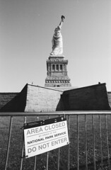 CLOSED! (Ioannis the graecum) Tags: canon a1 adox silvermax 100 new york city liberty island statue fd lens epson v850 29mm f28 ssc