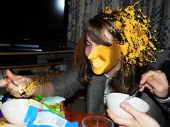 Ruth paint splattered! (gordonwatts1) Tags: christmas2011