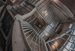 VERTIGO (henny vogelaar) Tags: netherlands veghel industrialheritage chvterrein noordkade siemei fisheye stairs steel concrete