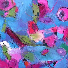 Hope's Spring (Angela Dierks Paintings) Tags: abstractart abstractpainting oilpainting affordableart floralart floralpainting