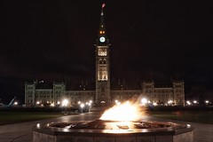 Let's get it started! (beyondhue) Tags: canadian parliament centennial flame dark night peace tower ottawa beyondhue architecture centre block canada