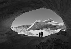 Black and White Alcove (photo61guy) Tags: nikond7000 nikon1024mm stitched panorama northcoyotebuttes sanddunes sand sanddunealcove az arizona nature landscape blackandwhite vermilioncliffs challengeyouwinner