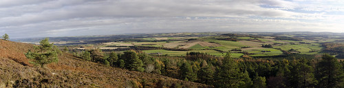 looking east from mither tap