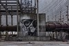Dark Art (Andrew G Robertson) Tags: guido pripyat chernobyl ukraine cooling tower graffiti art banksy street