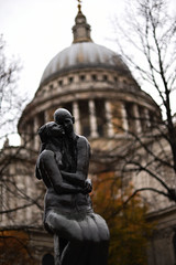 St Pauls London (phrada_kendi) Tags: london landscape uk cathedral church st pauls stpauls street nikon nofilter nikkor14 d750 nikkor 50 mm nikkor50mm14 building architecture sculpture people sky trees autumn