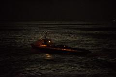 Night Runner (OneEighteen) Tags: houston ship channel houstonshipchannel pilot harbor port nautical marine maritime   schiff schip nave navire  oneeighteen louvest night moonlight crewboat