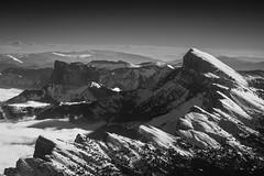 Vercors mountains (marclelivre) Tags: black white vercors montaiguille aiguille alpes alps trives grenoble gap isre