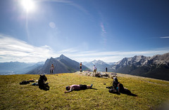 EEOR morning (V.Duplain) Tags: eeor east end rundle mountain canmore banff rockies canadian mountains top sun morning blue sky grass lazy people humans camping packing backpack adventure landscape view high sunshine sunrise