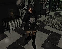 848  (BillitaUnderZone) Tags: ayashi bod sanarae zenith wholewheat dstyle girl death balloon virtual sl newreleases gacha event secondlife black blogger