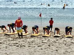 Surf school Kuta beach . In explore . (Franc Le Blanc .) Tags: panasonic lumix indonesia bali kuta pantai beach surfschool lessons