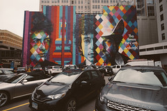 Minneapolis | Minnesota (William Self) Tags: minneapolis minnesota downtown winter 2016 sonya6300 mural bobdylan wall parking