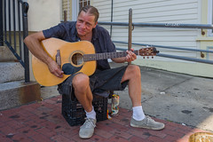 Leica Q - L1050088 (sswee38823) Tags: summer portrait man ma outdoors guitar provincetown capecod massachusetts streetportrait seaport streetmusician provincetownma summilux28mmf17asph