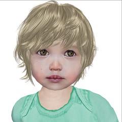 Cutie - Sasha snapshot (Alea Lamont) Tags: boy baby kids hair children us toddler child mesh skin avatar shapes kinder avatars r tots toddlers cuties dura kidsrus ndmd