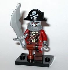 71010 2 zombie pirate minifigure monsters series 14 minifigures 2015 (tjparkside) Tags: 2 eye hat monster beard skull hand cross lego fig zombie pirates 14 leg mini pirate figure sword bones series monsters hook patch peg figures figs legged collectable fourteen cutlass 2015 minifigures 71010