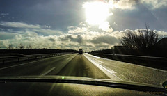 on the highway (Fay2603) Tags: light sky clouds germany highway niedersachsen fujixe1