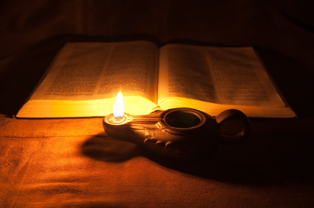 lamp and bible - photo #4