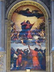 Assomption (1516-1518), Titien - Basilique Santa Maria Gloriosa dei Frari, Venise (Yvette Gauthier) Tags: venise venezia marcelproust italie basilique assomption choeur titien lombredesjeunesfillesenfleurs santamariagloriossdeifrari