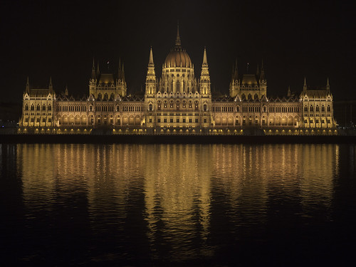 The Hungarian Parliament in the Evening