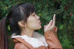 Angela likes cherries (BenValjean) Tags: china autumn girls portrait woman cute sexy girl beautiful beauty smile face field lady female portraits canon pose hair asian person eos nice eyes asia pretty photoshoot sweet farm feminine gorgeous chinese adorable babe cutie lips talent lovely charming oriental dslr cuties photoshoots talented delightful 女孩 人 girlnextdoor 秋天 500d 中国人 eos500d benjamingoodacre goodacrephotography bengoodacre 才能