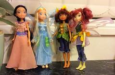 Pixie hollow fairies 🌳 (lisacampo14) Tags: doll lily tinkerbell disney fairies bess rani fira disneydolls pixiehollow tinkerbellfairies
