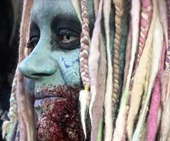 face of the zombie (Artbywigs) Tags: portrait green face sussex brighton zombie wigs dmctz40 artbywigs
