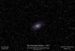 M33_DSLR_20151108_HomCavObservatory_ResizedDown2HD (homcavobservatory) Tags: observatory galaxy astrophotography m33 astronomy triangulum dslr refractor homcav