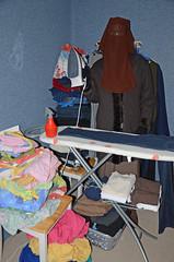 Many work for the slave maid (Buses,Trains and Fetish) Tags: girl warm iron coat hijab apron sweat niqab maid slave burka chador