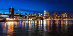 Brooklyn Bridge, NYC (nianci pan) Tags: blue light urban landscape twilight cityscape sony hudsonriver pan     sonyalphadslr  nianci sonyphotographing