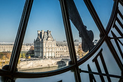 Orsay Museum-view of the Louvre (Maryann's*****Fotos) Tags: travel paris france art clock architecture view interior historic orsaymuseum mffotosoldsaybrook