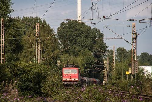 17.07.2006 Gelsenkirchen Bismarck. DB 155 273 mit gem Güterzug Bottrop