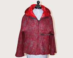 Women's jacket (Orli Felt) Tags: felted women handmade felt jacket orlifelt