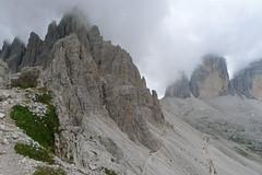 Tre Cime Lavaredo z okolic schroniska Locatelli