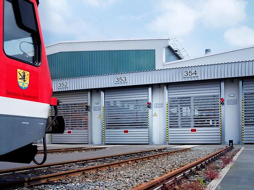 Скоростные ворота для ЖД транспорта.  Hi speed doors. Efaflex.  Швидкісні ворота для залізничного транспорту